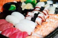Nigiri and maki sushi mix Stock Photos