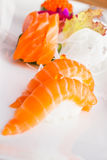 Nigiri och sashimi Royaltyfria Bilder