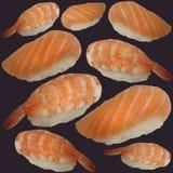 Nigiri pattern. Seamless pattern with nigiri, dark background Royalty Free Stock Images