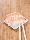 Nigiri with prawns Stock Photo