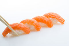 Nigiri Salmon do sushi imagens de stock