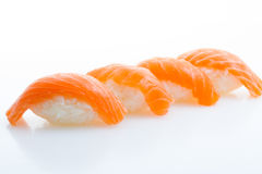 Nigiri Salmon do sushi foto de stock royalty free