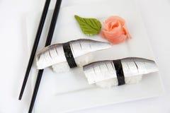 Nigiri sardinela sushi. Traditional japanese food Royalty Free Stock Photography