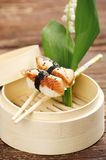 Nigiri with smoked eel Royalty Free Stock Photo