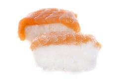 Nigiri sushi. In front of white background Stock Photos
