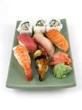Nigiri sushi. A selection of nigiri sushi stock photo