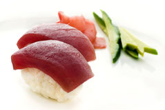 Nigiri Sushi. 2 large pieces of Nigiri Sushi Royalty Free Stock Photo