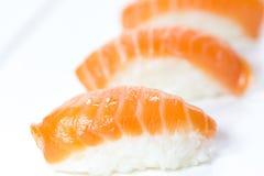 Nigiri sushi. The composition of nigiri sushi Royalty Free Stock Image