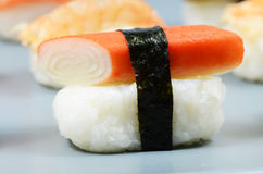 Nigiri sushi detail Royalty Free Stock Photos