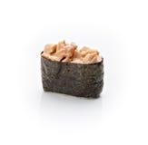 Nigiri sushi. Japanese cuisine. Nigiri sushi on a white background Royalty Free Stock Photos