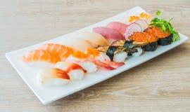 Nigiri sushi. Japanese food style stock photos