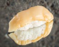 Nigiri sushi with marinated scallop Royalty Free Stock Photography