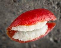 Nigiri sushi with marinated tuna Royalty Free Stock Images