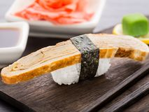 Nigiri sushi with omelette Stock Photography