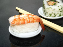 Nigiri sushi with prawn Stock Image