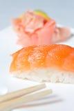 Nigiri Sushi with Salmon Stock Image