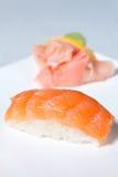 Nigiri Sushi with Salmon Stock Photos