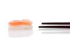 Nigiri sushi with salmon. Stock Image