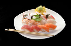 Nigiri sushi salmon and tuna. Stock Image