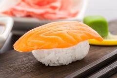 Nigiri sushi with salmon Royalty Free Stock Photos