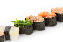 Nigiri sushi set Stock Photos