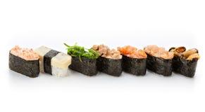 Nigiri sushi set Royalty Free Stock Photos