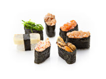 Nigiri sushi set Royalty Free Stock Photos