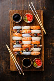 Nigiri sushi set for two stock image