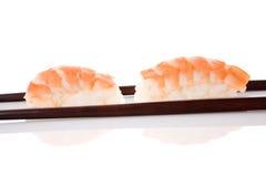 Nigiri sushi with shrimp. Royalty Free Stock Image