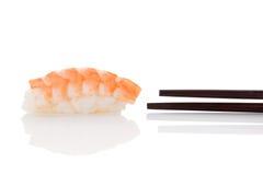 Nigiri sushi with shrimp. Stock Images