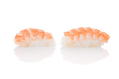 Nigiri sushi with shrimp. Royalty Free Stock Photo