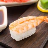 Nigiri sushi with shrimp Royalty Free Stock Image
