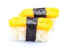Nigiri Tamago море вкусного лимона японии еды рыб свежего японского материальное сырцовое Стоковое Изображение RF