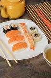 Nigiri und Sushi Stockbilder