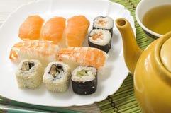 Nigiri und Sushi Lizenzfreie Stockbilder