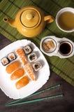 Nigiri und Sushi Lizenzfreies Stockfoto