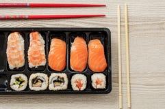 Nigiri und Sushi Stockfotografie