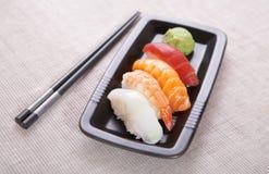 Nigiri van sushi Stock Foto