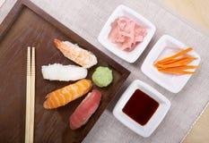 Nigiri van sushi Stock Afbeelding