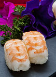 Nigiris shrimp Royalty Free Stock Image