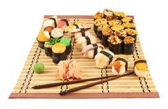 Nigirizushi and baked sushi composition Stock Images