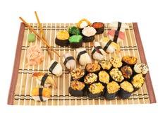 Nigirizushi and baked sushi composition Stock Image