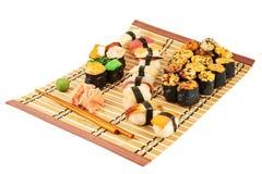 Nigirizushi and baked sushi composition Stock Photos