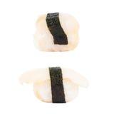 Nigirizushi del sushi aislado Fotos de archivo libres de regalías