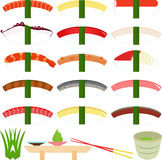 Nigirizushi (Hand-formed Sushi) Royalty Free Stock Photo