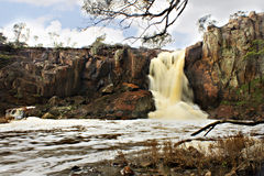 Nigretta Falls Hamilton Vic. This waterfall was very active for the first time when the drought broke in Victoria Royalty Free Stock Photography