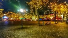 Nigt dans une ville photo libre de droits