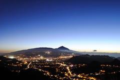 Nigth em Tenerife Fotografia de Stock