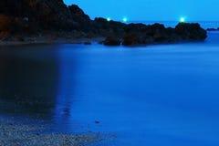 Nigth hav Arkivfoto