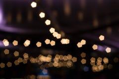 Nigth-Licht-Unschärfehintergrund lizenzfreie stockbilder